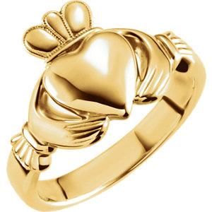 Men's wedding bands, claddagh, gold, kluh jewelers